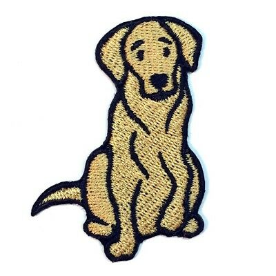 Yellow Labrador Retriever Iron On Embroidered Patch