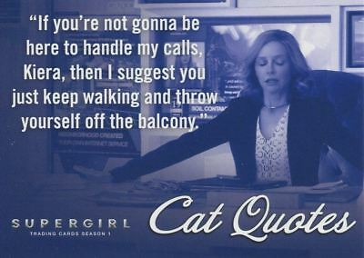 Supergirl Season 1 Cat Quotes Chase Card CQ07 If you?re not gonna be here...