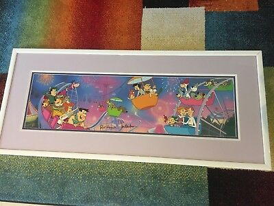 """Theme Park"" Signed Limited Edition Animation Cel Framed - Hanna Barbera 370/400"