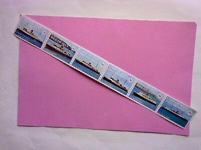 ISLE OF MAN/CALF OF MAN: 1971 Ships/King Orry strip of 6values  MNH
