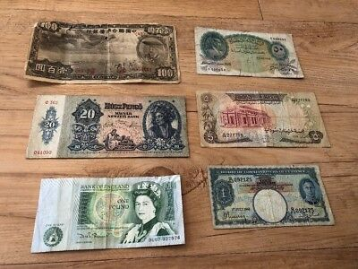 Lot Of 6 Banknotes Foreign Paper Money