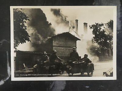1940 Krakow Poland GG Germany Soldiers Motorcycle RPPC Postcard cover to Hamburg