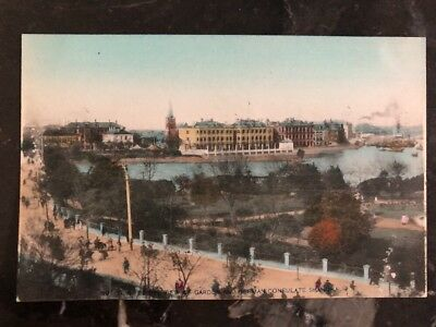 Mint Shanghai China Real Picture Postcard Garden And German Consulate View