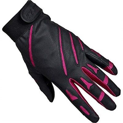 Mark Todd Sports Everyday Riding Glove Small Black Cerise Pink