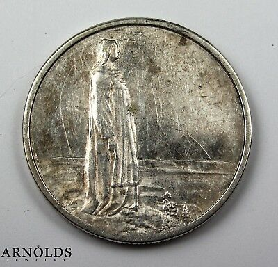1914 Norway 2 Kroner Silver! Beautiful!