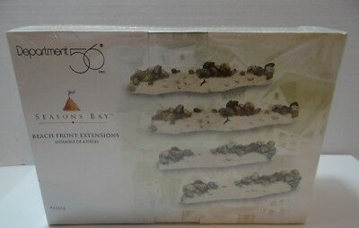 Dept 56 Seasons Bay Beach Front Extensions Set of 4 NEW SEALED 53374