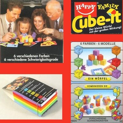 THE HAPPY CUBE Cube-it 1986 6 Farben 6 Modelle 3D Puzzle TOP in OVP