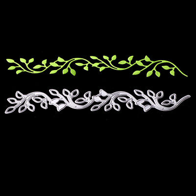 Lace leaves decor Metal cutting dies stencil scrapbooking embossing album diy UK