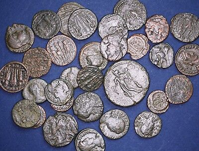 Roman coin collection, 30 Ancient Roman Imperial late bronzes *[11014]