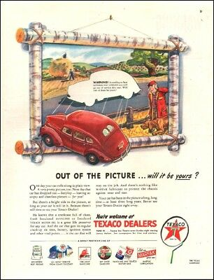 1945 vintage AD TEXACO DEALERS Don't let your car drop out! 071718)