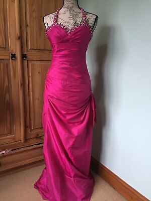 Pink Prom Dress Ball Gown Size 8 Eur 2028 Picclick Fr