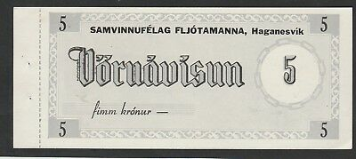 5 Kronur From Iceland Unc