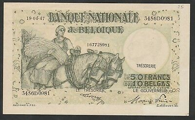 50 Francs From Belgium 1947 Strong XF
