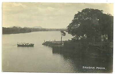 India postcard Poona Sangam