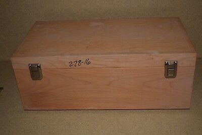 "++ Wood Hard Equipment Carrying Case - 18X9X5"" Inside (5E)"