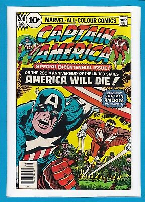 CAPTAIN AMERICA & THE FALCON #200_AUG 1976_NM-_SPECIAL 200th ISSUE_JACK KIRBY_UK