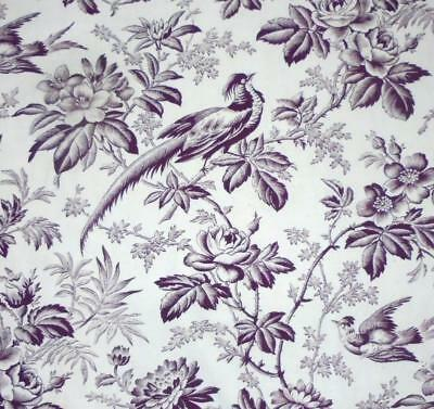 NEW AUTUMN STOCK,  EARLY TO MID 19th CENTURY FRENCH TOILE DE JOUY BIRDS 132.