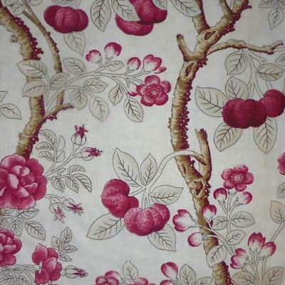 NEW STOCK: RARE 18th CENTURY FRENCH LINEN BLOCK PRINT, c1790 ROSES 130.