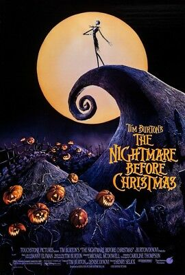 NIGHTMARE BEFORE CHRISTMAS MOVIE POSTER, USA Version, (Size 24 x 36)