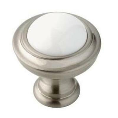 "085-03-0805 1 1//4 /"" Satin Nickel Hollow Round Cabinet Drawer Knob 4 Pack"