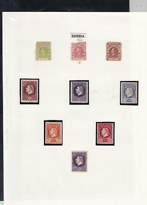 serbia stamps page ref 16848