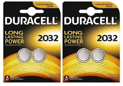 4 x Duracell CR2032 3V Lithium Battery Button 2032 Coin Cell  DL2032 SB-T15