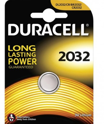 Duracell 3V Lithium Battery Button 2032 Coin Cell  DL2032 / CR / BR2032 / CR2032