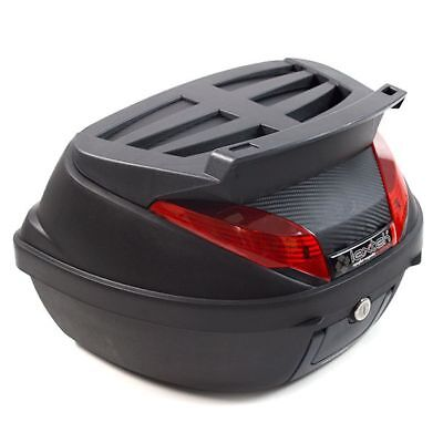 LEXTEK Motorcycle Scooter Motorbike 42 Litre Luggage Top Box Inc Mounting Plate