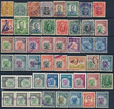 Rhodesia , Nice Large - Different Periods - Lot Of Used Revenues.    #k240