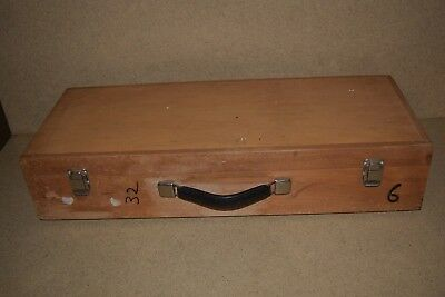 "++ WOOD HARD EQUIPMENT CARRYING CASE - 24X9X3"" INSIDE (11k)"