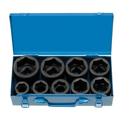 "9 Piece 1"" Drive 6 Point Jumbo Fractional Impact Socket Set GRE9159 Brand New!"