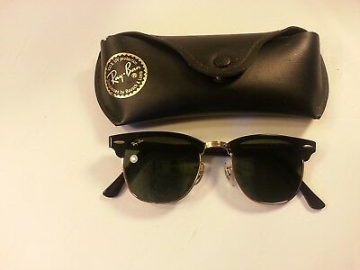 Ray Ban Usa B&l Clubmasters W0365 Vintage  Sunglasses W/ Case
