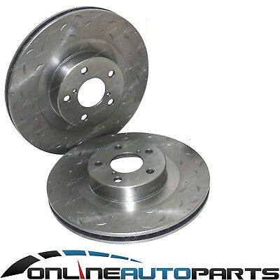 Front Drilled + Slotted Disc Brake Rotors for Subaru BRZ ZN6 RWD 4cyl FA20 2.0L