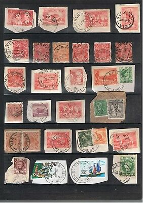 Selection Of Victoria Postmarks On Mostly Pre-Decimal Stamps.