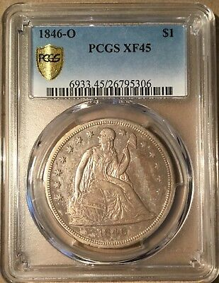 1846-O Seated Liberty $1 Silver Dollar PCGS XF45 - New Orleans