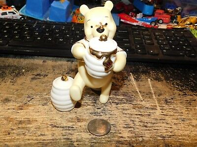 Lenox Porcelain disney Winnie The Pooh Honey Bucket RED Birthstone Figurine