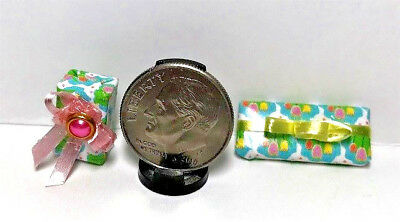 Dollhouse Miniature Presents -All Occasion or Easter Gifts #2 1:12 Scale