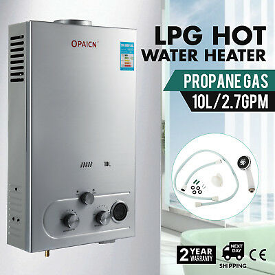 10L LPG Propane Gas Hot Water Heater Digital High Efficient Petroleum New