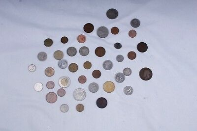 Lot of Assorted British Coins: 1917 Penny, 1914 Shilling, 1890 CAN Cent, etc