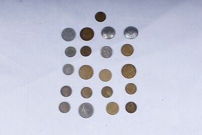 Assorted WWII and Pre-war French coins: 1943 Vichy 1 Franc, 1938-1941 50 centime