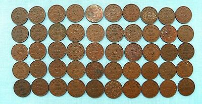Lot of 50 George V Canadian Small Cents