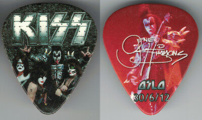 Kiss-2012-One Show-Only City Guitar Pick-Gene Simmons-Oslo, Norway!