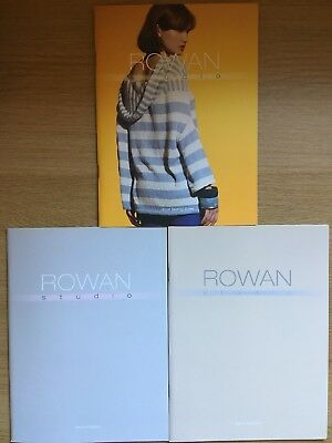 Three Rowan Studio pattern books