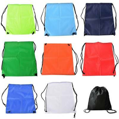 Outdoor Strong Drawstring Gym Bag Sport hiking cycling Bicycle backpack UK STOCK