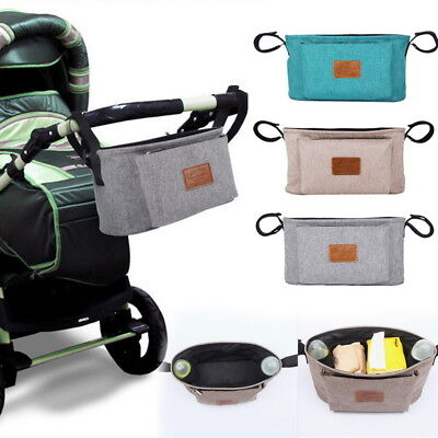 Baby Jogger Stroller Organizer Bag Cup Holders Strap Use Travel Out Walking