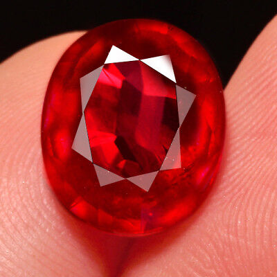 7.2Ct 12x10mm Natural Mozambique Blood Red Ruby Faceted Cut QHB615