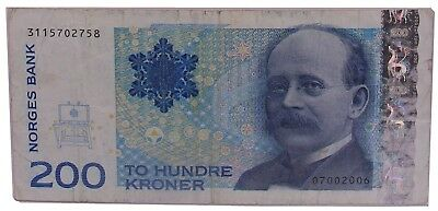 Norway 200 Kroner 2003 VF