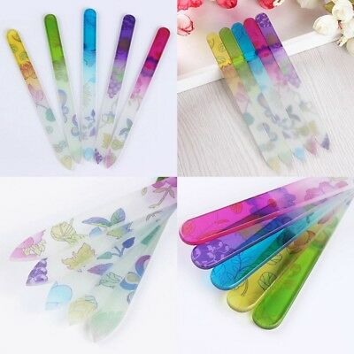 1XDurable Crystal Glass Nail Art Buffer Pro File Manicure Device Tool random