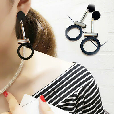 2018 Fashion Large Circle Geometric Gold Earring Ear Stud Earrings Women Jewelry
