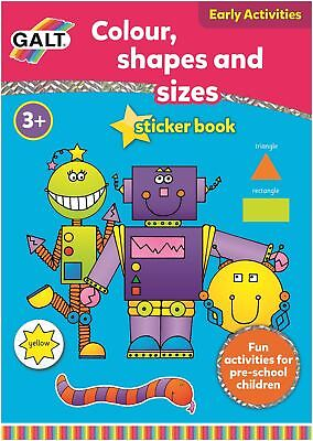 Galt COLOUR, SHAPES AND SIZES BOOK Children Educational Toys Activities BN